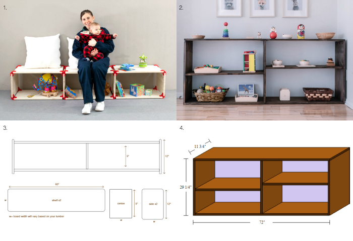 DIY Montessori toddler infant shelves at How we Montessori