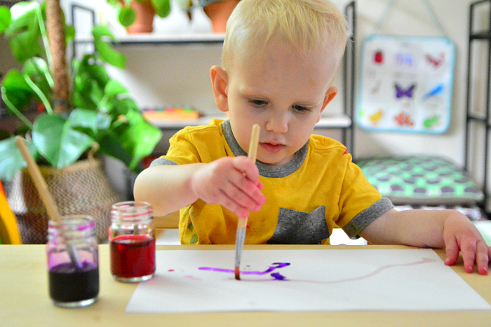 Montessori toddler art at How we Montessori 21 months