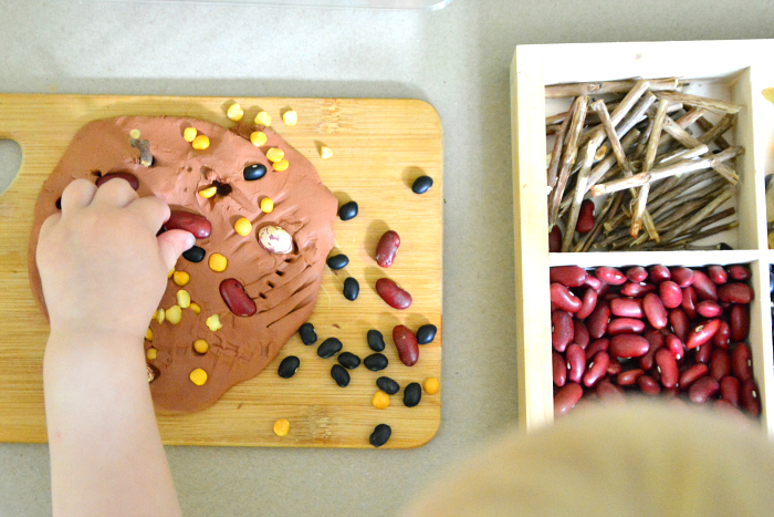 Montessori toddler  working with clay  21 months at How we Montessori