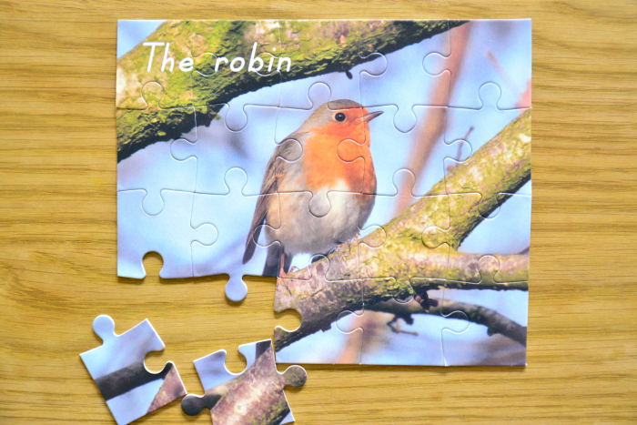 Robin puzzle at How we Montessori