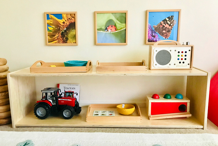 Ladybug wall art at How we Montessori