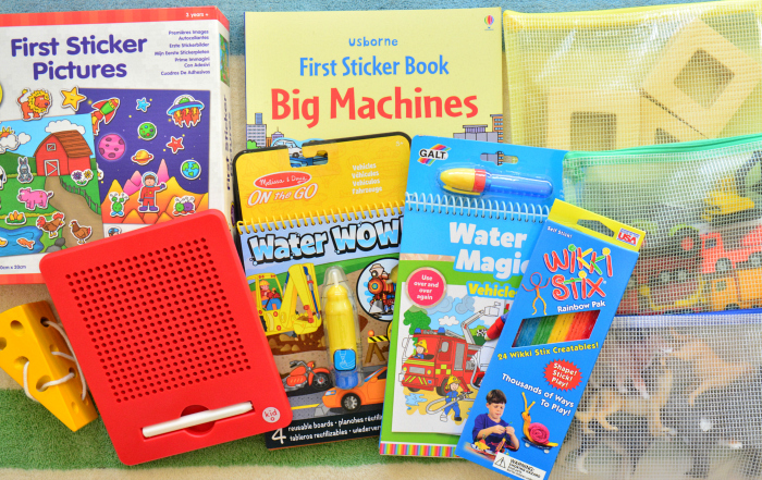 Galt Water Magic book at How we Montessori  toddler activity bag for travelling