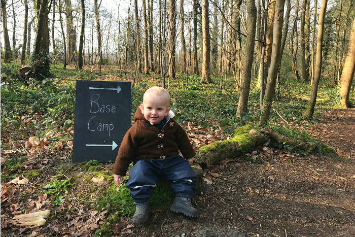 Otto at Base Camp toddler Forest School
