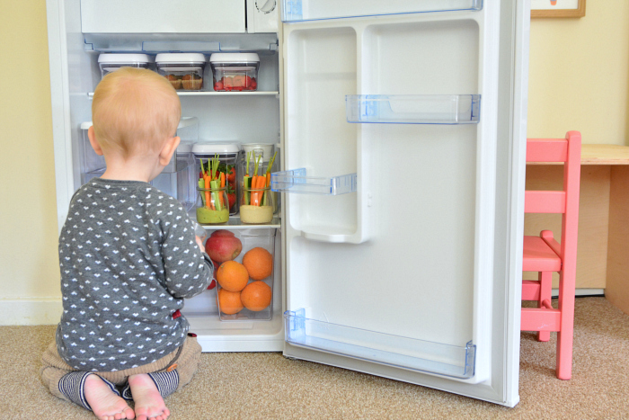 Montessori Toddler Fridge at How we Montessori