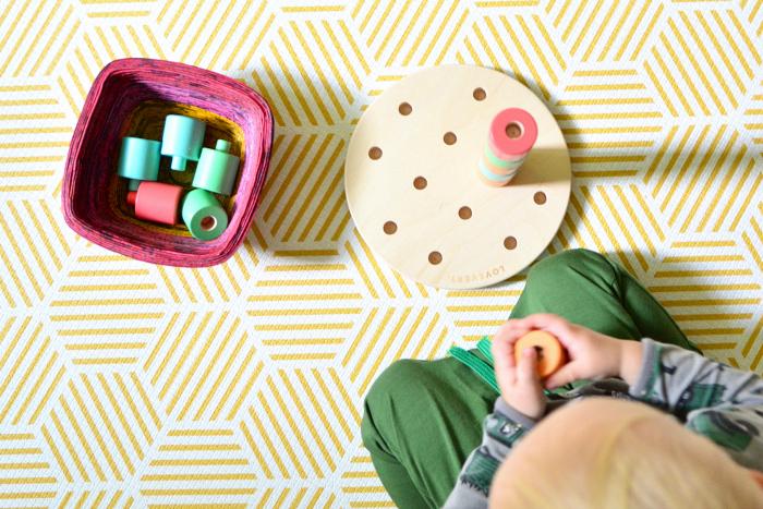 Montessori toddler play mat at How we Montessori