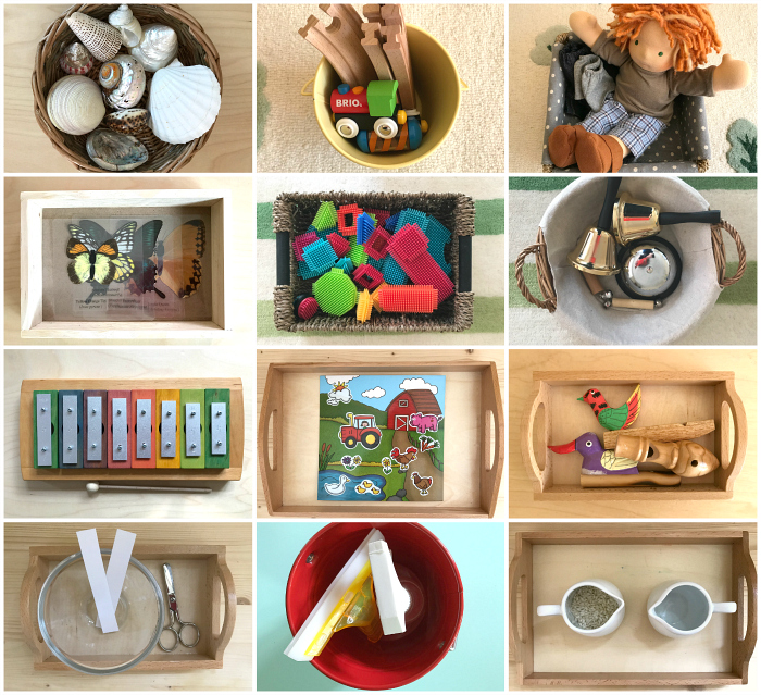 New Baskets and Trays  at 19 months  How we Montessori