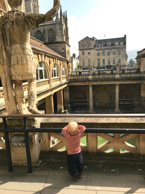 Otto at Roman Baths in Bath UK 2019  19 months