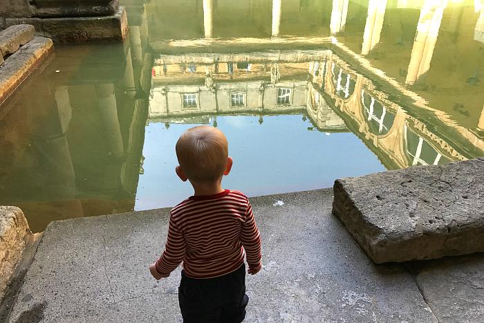 Otto at Roman Baths in Bath UK 2019  19 months