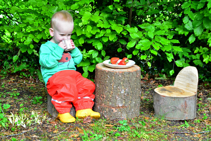 Otto's outdoor table at How we Montessori