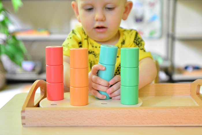 Lovevery Wooden Stacking Pegs at How we Montessori