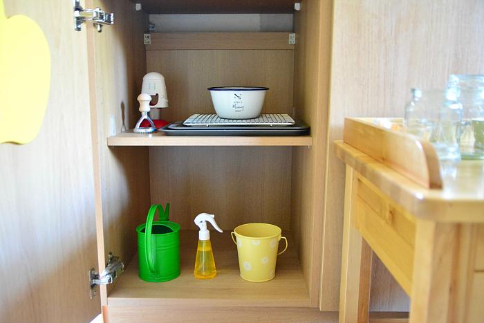 Montessori toddler baking shelves at How we Montessori  Otto 24 months