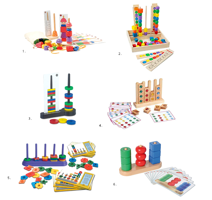 Montessori stacking sorting sequencing at How we Montessori