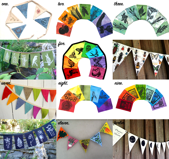Montessori  Waldorf and Nature Inspired Flags and Bunting at How we Montessori