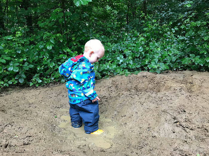 Raining at Forest School  Otto at 20 months How we Montessori