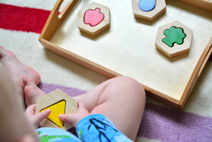 Otto fit and find puzzle at How we Montessori 17 months