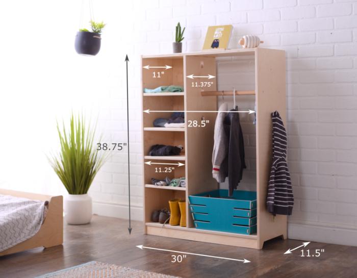 Alba Montessori Wardrobe Sprout-2