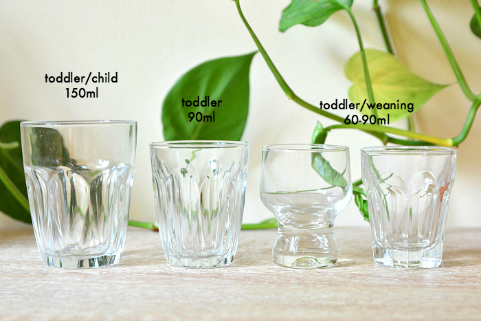 Montessori drinking glasses  weaning glass at How we Montessori