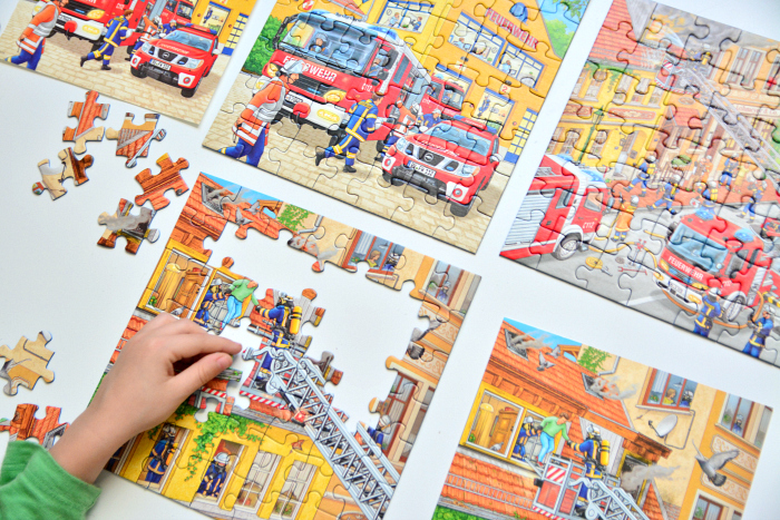 Busy Airport Ravensburger Puzzle at How we Montessori