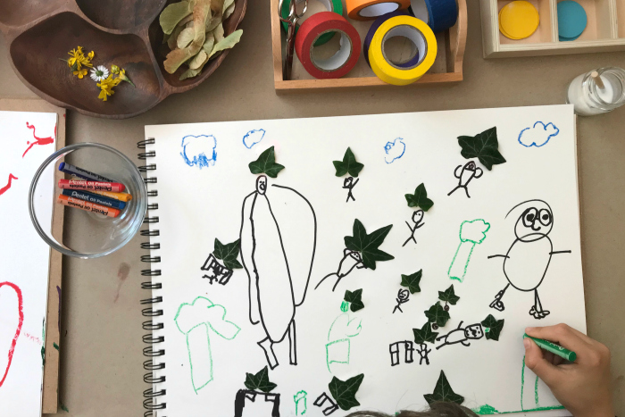 Otis' floorbook at eight years  nature art