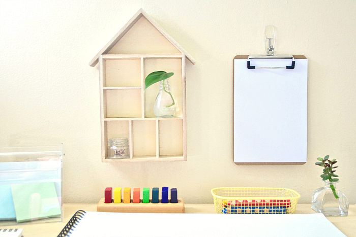 How we Montessori toddler writing station