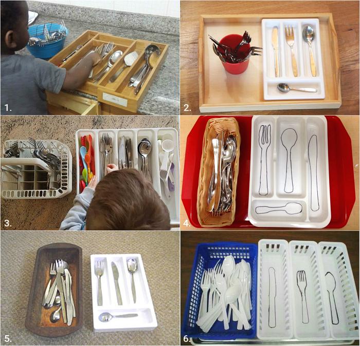 Montessori Cutlery Sorting