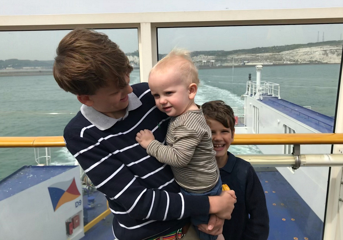 Caspar  Otto and Otis leaving Dover  Spring 2019