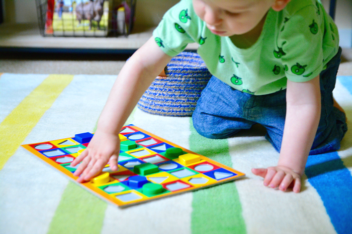 Otto using Colorama at 23 months at How we Montessori