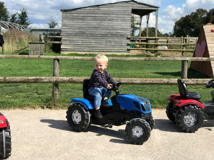 Otto 23 months ride on tractor at HWM