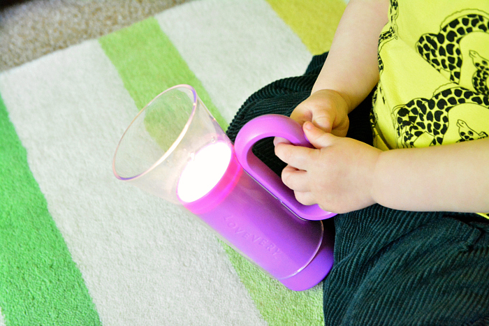 Toddler friendly torch at How we Montessori Lovevery