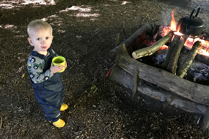 How we Montessori Forest School by fire Otto 24 months