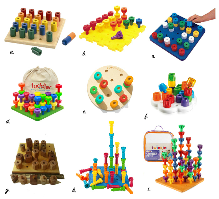 Peg toys for Montessori toddlers 12-36 months at How we Montessori