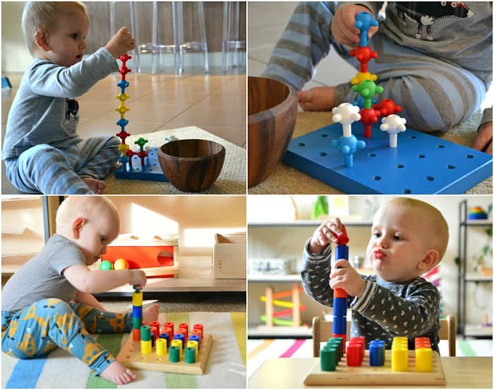 How we Montessori Peg boards for Montessori toddlers 12-36 months