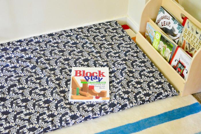 Reading corner to block corner at How we Montessori