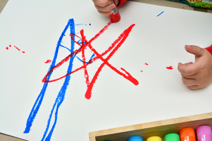 Otto drew a star at How we Montessori*  22 months