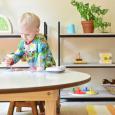 Otto 22 months  Montessori inspired playroom at How we Montessori