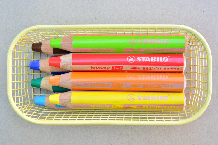Woody 3 in 1 pencils for toddler at How we Montessori