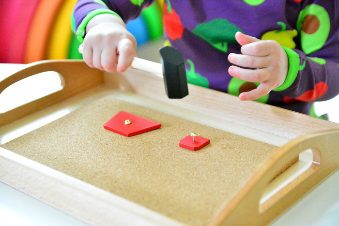 Otto tap tap hammer toy at How we Montessori 25 months