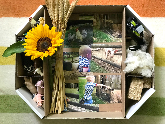 Farm talking tub at How we Montessori for Otto at 22 months 2019