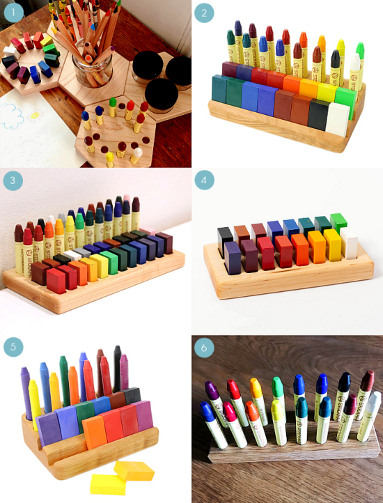 Beeswax Crayon Holders at How we Montessori