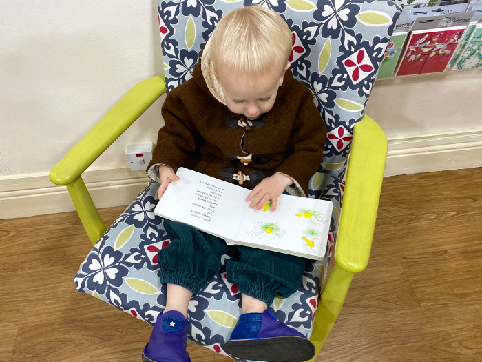 Otto at How we Montessori at Hunting Raven Book Shop in Frome Autumn 2019
