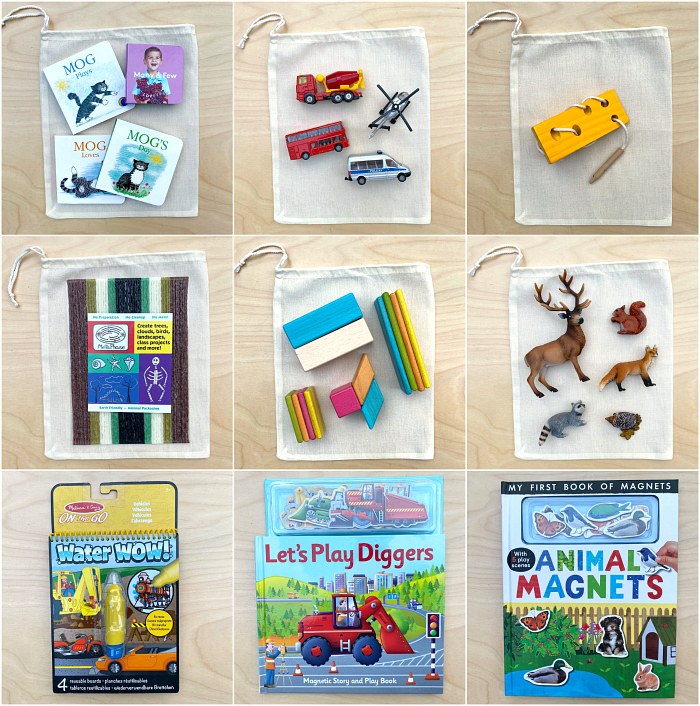 Screen Free Toddler Travel Bags at How we Montessori