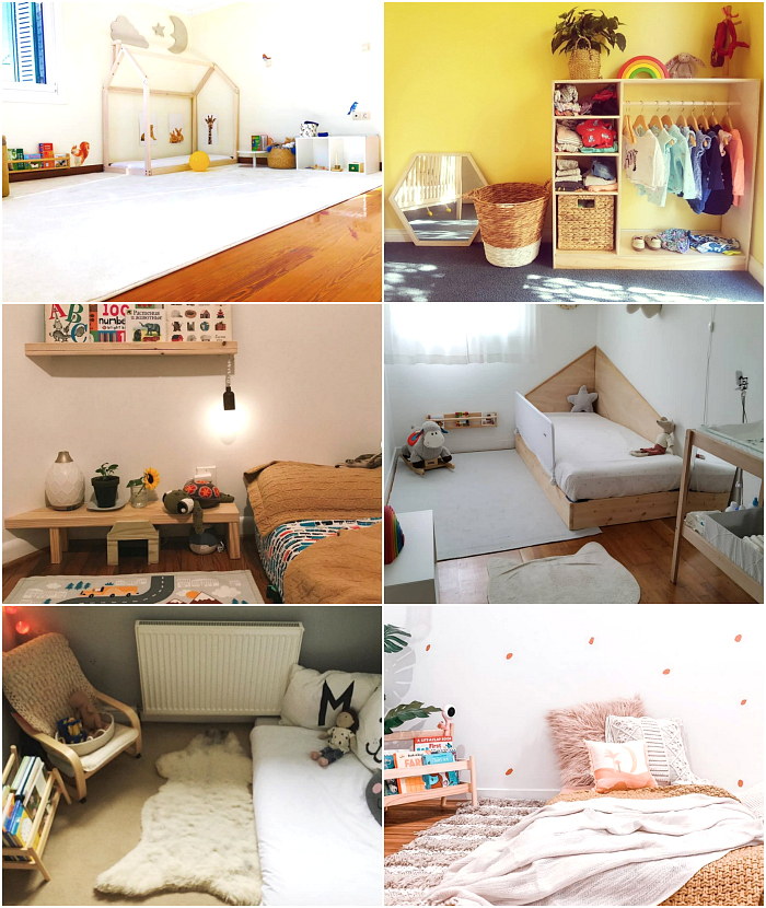 Real Montessori Bedrooms to Love at How we Montessori Baby to Toddler