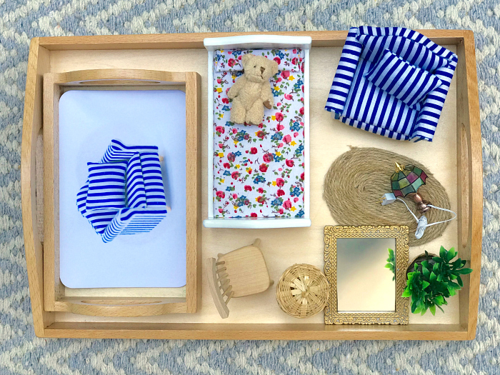 Montessori matching object to cards  bedroom  furniture montessori toddler object to image