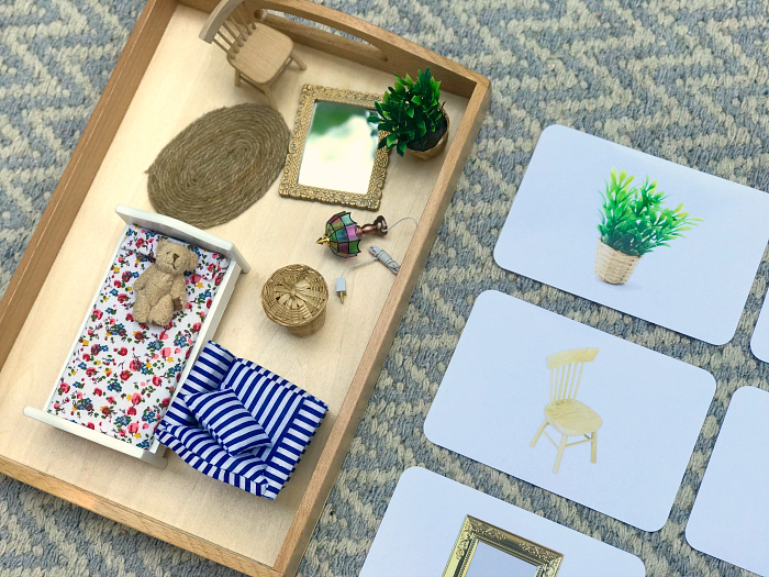 Sneak peek matching miniatures at How we Montessori