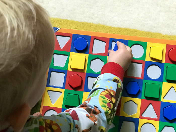 Toddler first board game at 23 months colorama at how we montessori