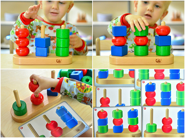 Montessori stacking  sorting  sequence stackers at How we Montessori