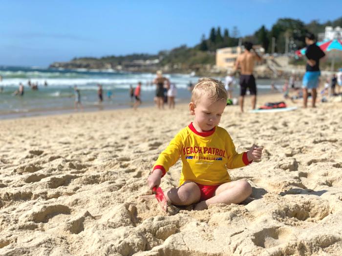 Otto How we Montessori Coogee beach Feb 2020 2 years