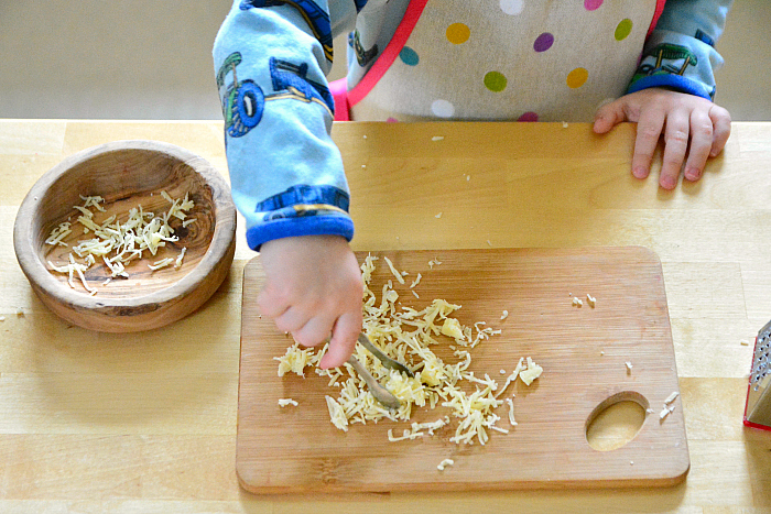 Toddler mini tongs at how we montessori 26 months