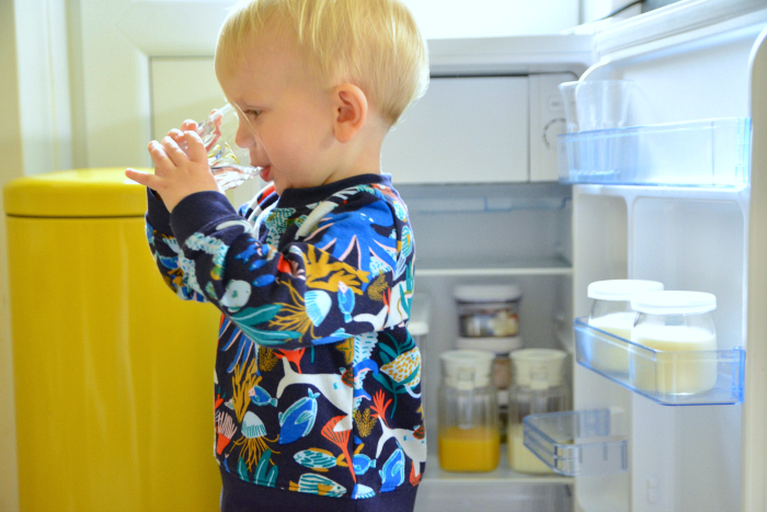 Toddler Fridge at How we Montessori