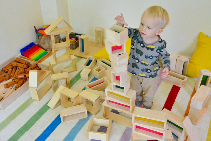 How we Montessori Toddler Block Corner montessori home